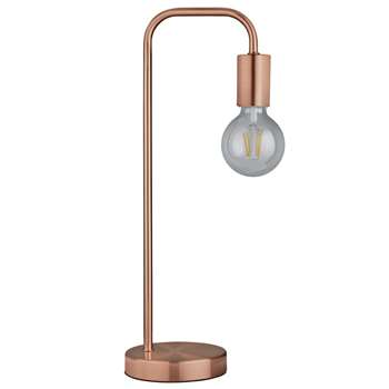 Argos Home Rayner Table Lamp - Rose Gold (H46 x W18.5 x D13cm)