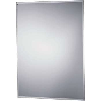 Argos Home Rectangular Bevelled Bathroom Mirror - Silver (H60 x W45 x D1cm)