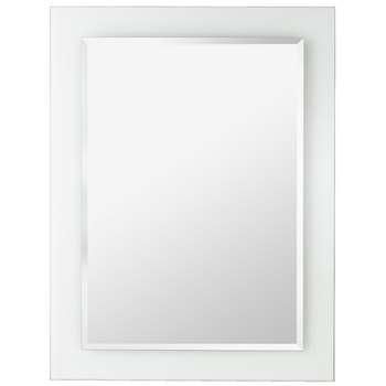 Argos Home Rectangular Clear Border Bathroom Mirror (H60 x W45 x D1.3cm)