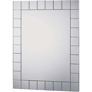 Argos Home Rectangular Mosaic Bathroom Mirror (H50 x W40 x D1cm)