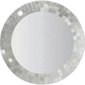 Argos Home Round Mosaic Wall Mirror (H65 x W65 x D1.6cm)