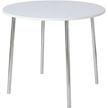 Argos Home Round Wood Effect 2 Seater Dining Table - White (H76 x W90 x D90cm)