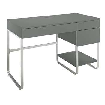 Argos Home Sammy 3 Drawer Desk - Grey Gloss (H75 x W120 x D57cm)