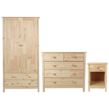 Argos Home Scandinavia Pine 3 Piece Bedroom Package