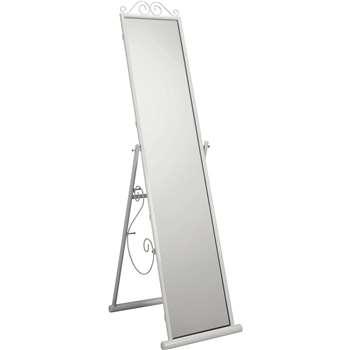 Argos Home Scroll Full Freestanding Cheval Mirror - White (H151 x W37.5 x D5cm)