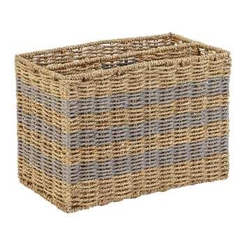 Argos Home Seagrass Magazine Basket (H25 x W37 x D20cm)