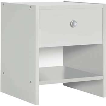Argos Home - Seville 1 Drawer - Bedside Chest - White (H42 x W36 x D33cm)