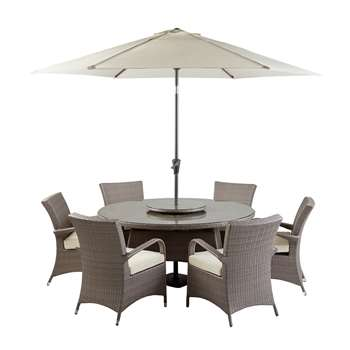 Argos Home Seychelles 6 Seater Rattan Effect Patio Set