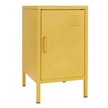 Argos Home Short 1 Door 2 Shelf Locker - Mustard (H60 x W35 x D40cm)
