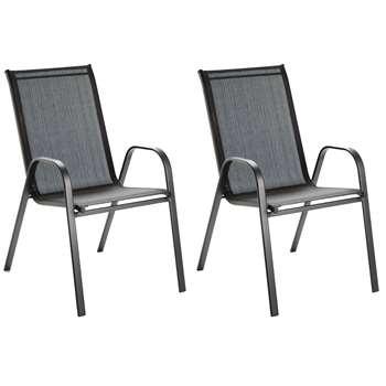 Argos Home Sicily Chairs - Set of 2 (H92 x W55 x D73cm)