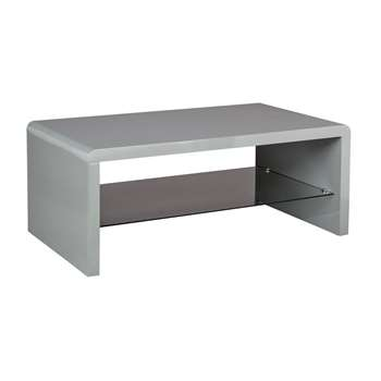 Argos Home Sleigh Coffee Table - Gloss Grey (H40 x W100 x D55cm)