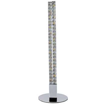 Argos Home Sophia LED Table Lamp - Chrome (H46 x W14 x D14cm)