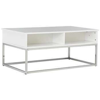 Argos Home Storage Coffee Table - White (H45.5 x W103 x D60cm)