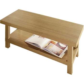 Argos Home - Stratford Chunky - Coffee Table - Oak Effect (H45 x W100 x D50cm)