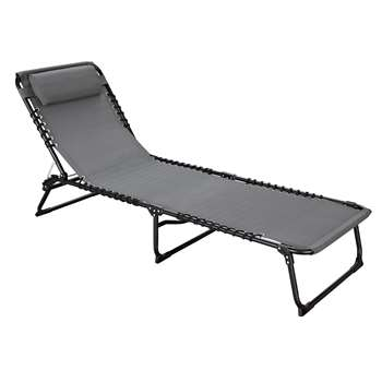 Argos Home Sun Loungers Set of 2 - Grey (H30 x W60 x D190cm)