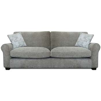 Argos Home Tammy 4 Seater Fabric Sofa - Mink (H85 x W221 x D91cm)