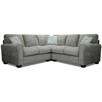 Argos Home Tammy Corner Fabric Sofa - Mink (H85 x W129 x D215cm)
