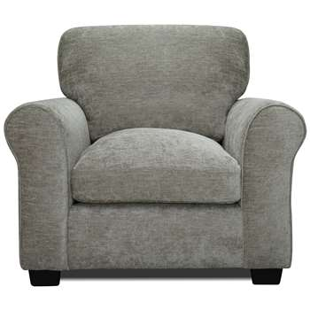 Argos Home Tammy Fabric Armchair - Mink (H85 x W96 x D91cm)