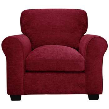 Argos Home Tammy Fabric Armchair - Wine (H85 x W96 x D91cm)