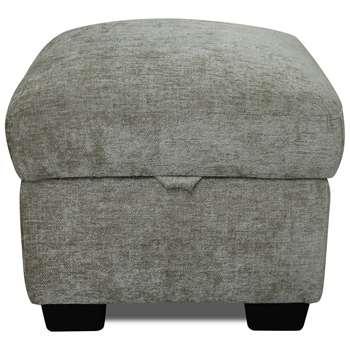Argos Home Tammy Fabric Storage Footstool - Mink (H45 x W50 x D50cm)
