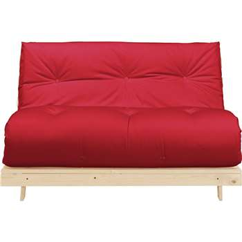 Argos Home Tosa 2 Seater Futon Sofa Bed - Red (H75 x W137.5 x D85cm)