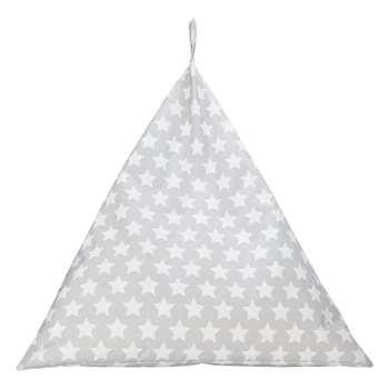 Argos Home Triangle Silver Stars Beanbag (H85 x W70 x D70cm)