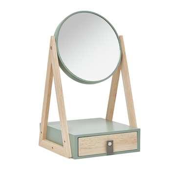 Argos Home Urban Escape Storage Mirror - Mint (H35 x W20 x D20cm)
