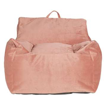 Argos Home Velvet Beanbag - Blush Pink (H75 x W72 x D72cm)