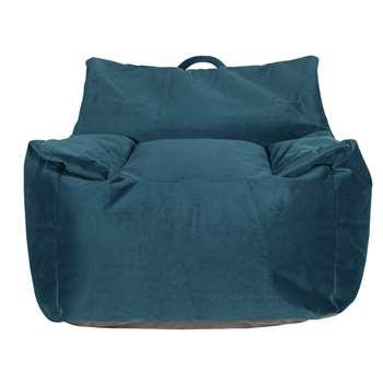 Argos Home Velvet Beanbag - Teal (H75 x W72 x D72cm)