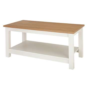 Argos Home Winchester Coffee Table - White (H49 x W99.6 x D49.5cm)