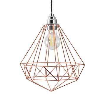 Argos Home Wire Pendant Shade - Rose Gold (H25 x W25 x D25cm)
