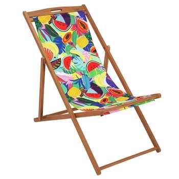Argos Home Wooden Deck Chair - Ipanema Fruit (H92 x W59 x D110cm)