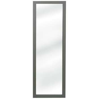 Argos Home Wooden Wall Mirror - Grey (H125.5 x W35.5 x D2cm)