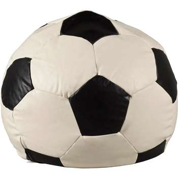 Argos Home XL Leather Effect Black & White Football Beanbag (H70 x W70 x D70cm)
