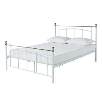 Argos Home Yani Small Double Bed Frame - White (H105 x W129.2 x D201.5cm)