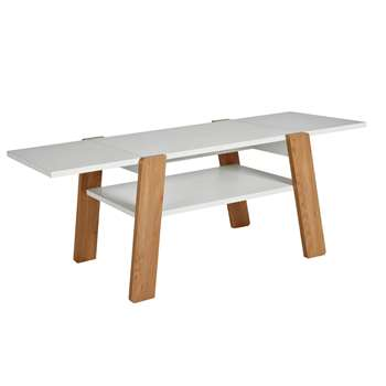 Argos Home Zander Extendable Coffee Table - White (H45 x W78 x D50cm)