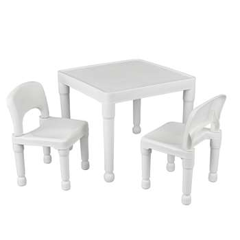 Argos - Liberty House Kids Table and 2 Chairs - White (H43.5 x W51 x D25cm)