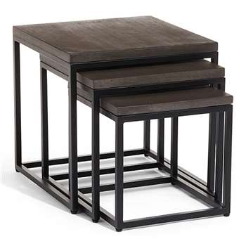 Arianne Graphite Nesting Side Tables (50.5 x 50cm)