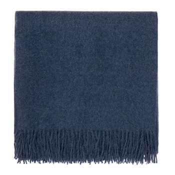 Arica Alpaca Blanket, Denim Blue (H130 x W185cm)