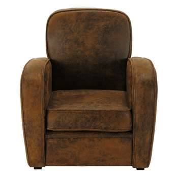 ARIZONA Microfibre child's armchair in brown