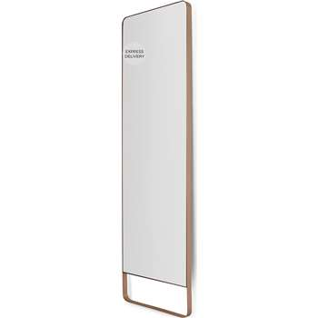 Arles Leaning Floor Mirror, Brushed Rose Gold (H160 x W48 x D3.5cm)