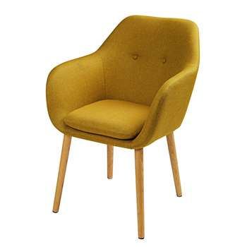 ARNOLD Mustard yellow fabric armchair (82 x 61cm)
