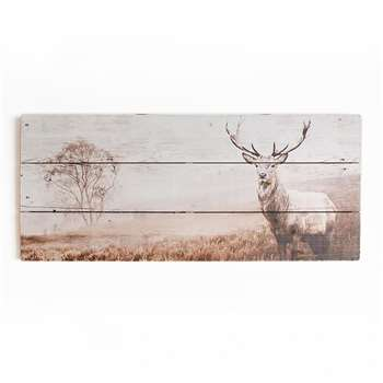Art for the Home Stag Wooden Wall Art (H40 x W70 x D3.8cm)