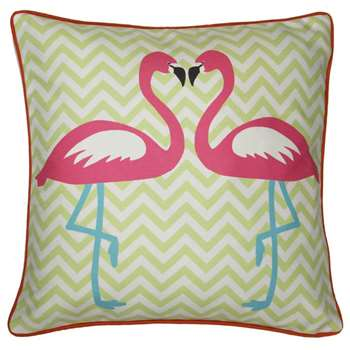 Arthouse - Girl's Life Flamingo Scatter Cushion (H45 x W45cm)