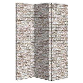 Arthouse Rustic Brick Room Divider Screen (H150 x W120 x D2.5cm)