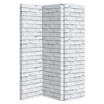 Arthouse White Brick Room Divider Screen (H150 x W120 x D2.5cm)