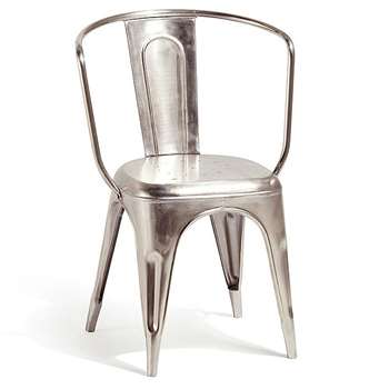 Artisan Metal Carver Chair (H83 x W40 x D40cm)