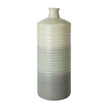 Artisan Ribbed Gradient Bottle Vase (34.7 x 13cm)