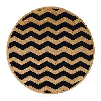 Artsy Doormats - Chevron Door Mat - Round (70 x 70cm)