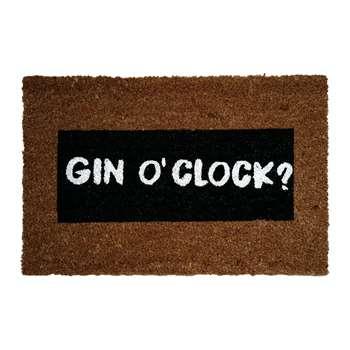 Artsy Doormats - Gin O'Clock Glitter Door Mat (40 x 60cm)
